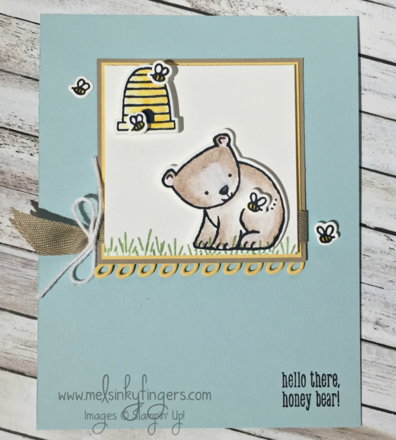 Hello there, honey bear! made with the A Little Wild Bundle #145327