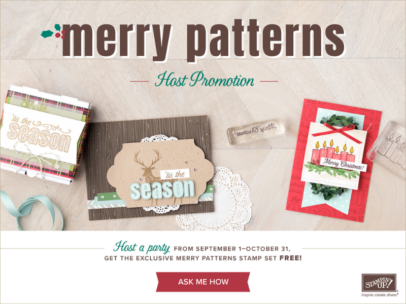 The Merry Patterns host set is FREE with a qualifying order until October 31, 2017!