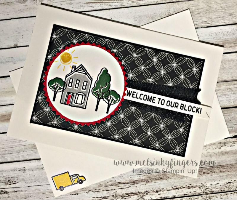 Welcome to the block card made with In the City host set from Stampin' Up!