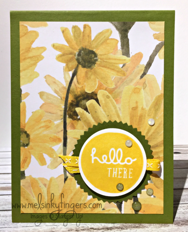 Delightful Daisy DSP with Pieces & Patterns stamp set