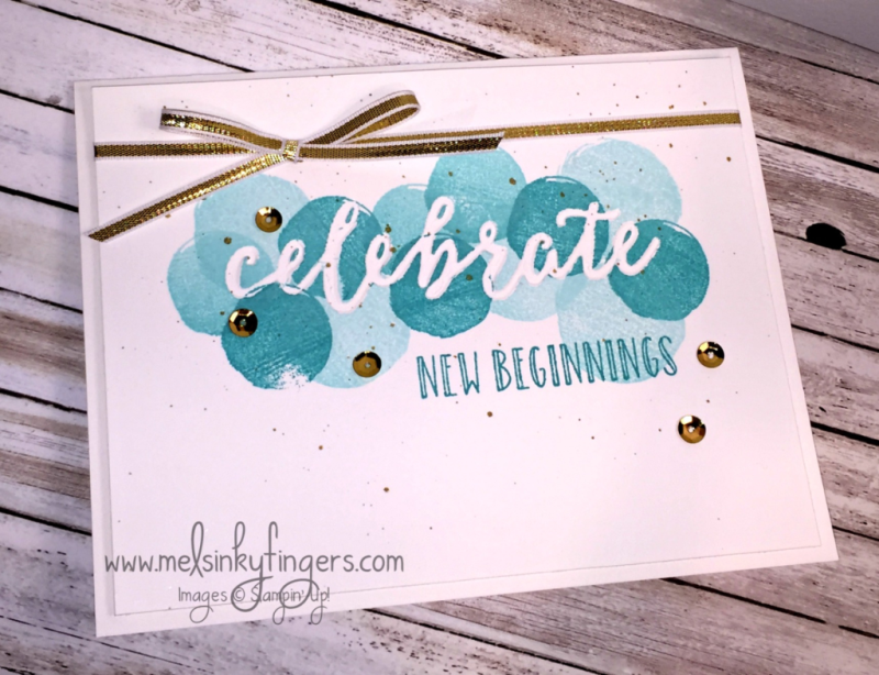 Celebrations Duo Embossing Folders and Happy Celebrations stamp set