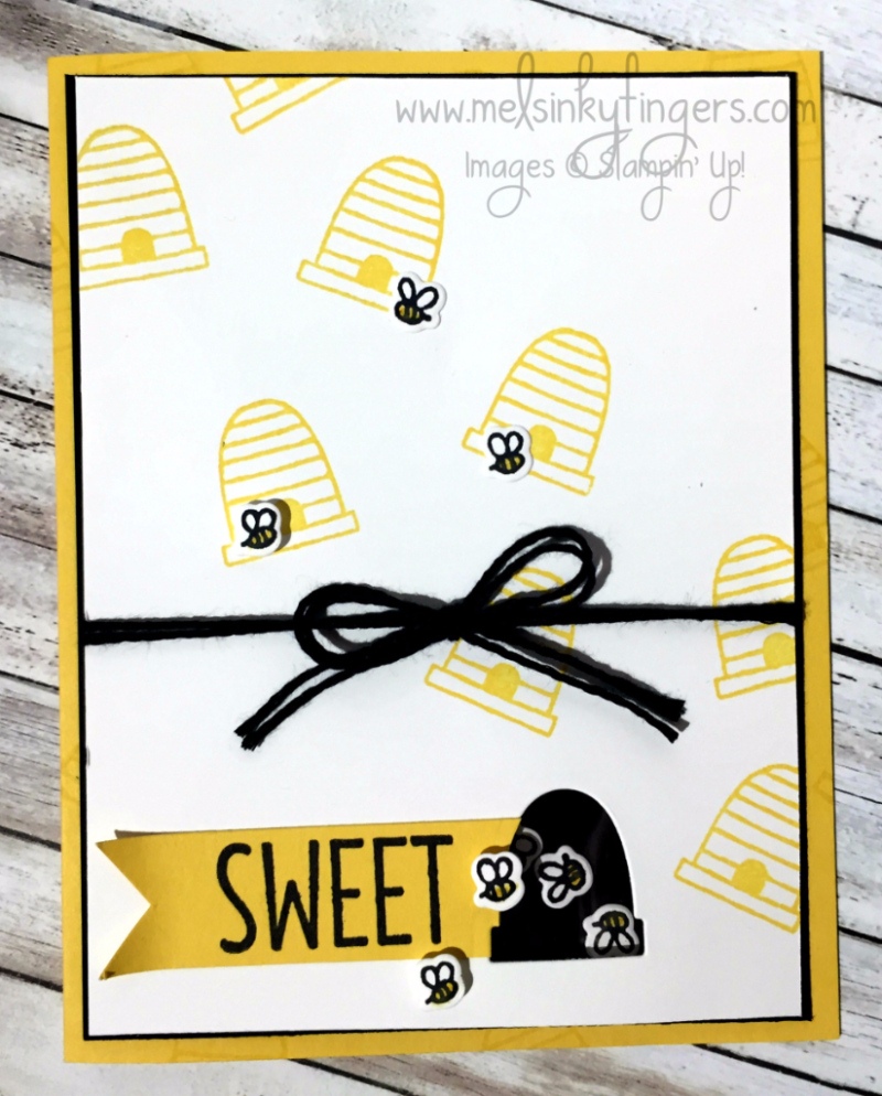 Sweet Bee Shaker card made with A Little Wild stamp set and Little Loves framelits dies