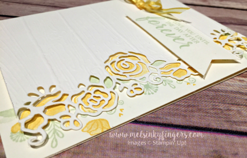 Forever Lovely Sympathy card featuring the Lovely Flowers Edgelit dies