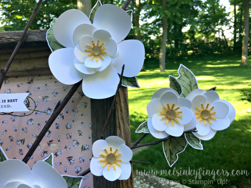 Making flowers was never easier than when using he Magnolia Memory dies