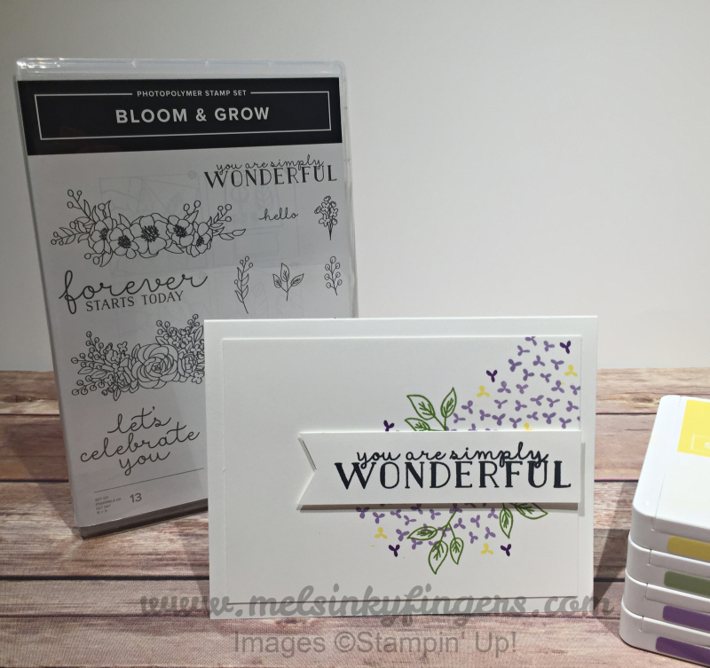 Simple stamping with the Bloom & Grow stamp set!