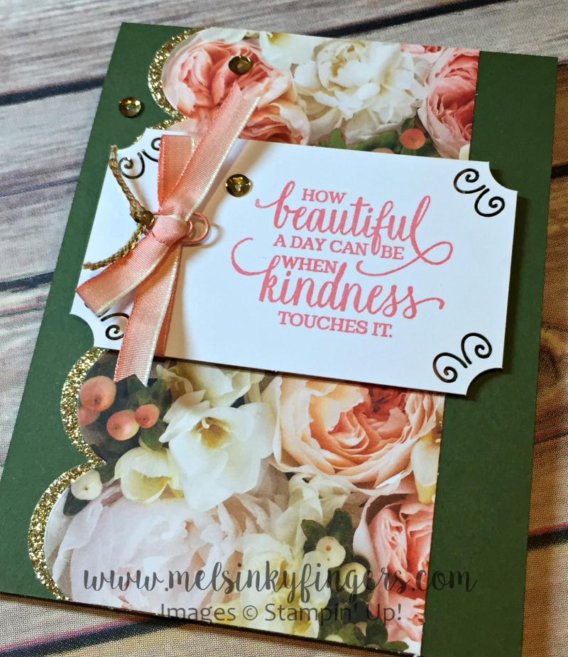 Petal Promenade designer series paper and the Enjoy Life stamp set