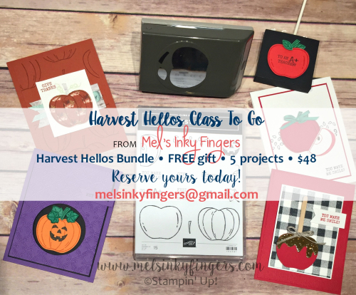 Reserve your Harvest Hellos Class by September 25th!