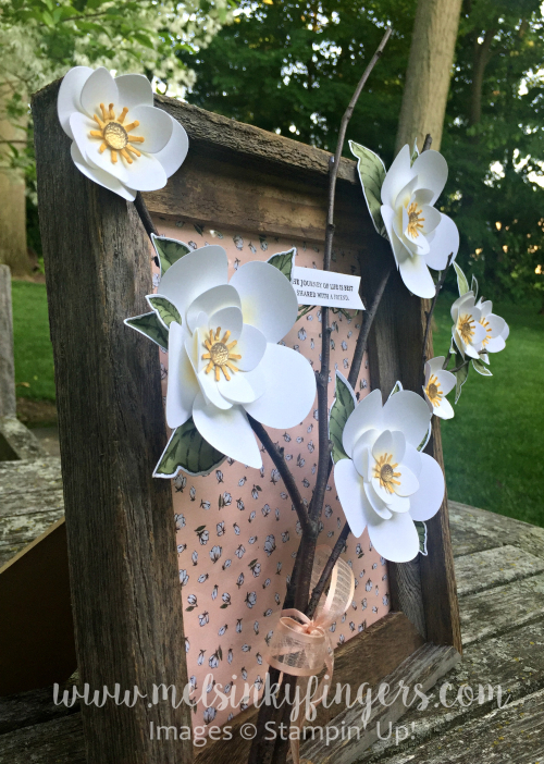 So much dimension with the Magnolia Memory die flowers