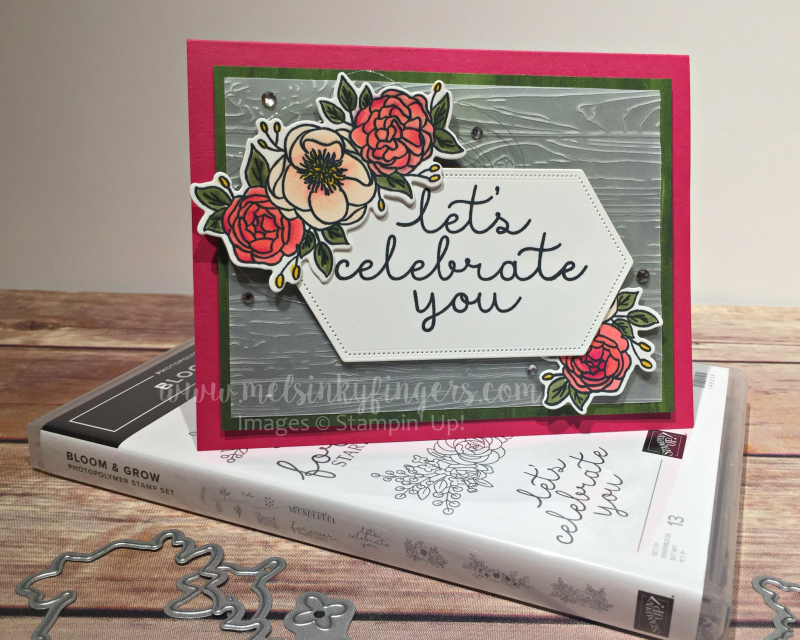 The Bloom & Grow stamp set with coordinating Budding Blooms dies.