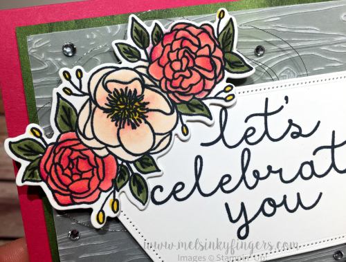 Silver Metallic Thread and Rhinestones are the perfect finishing touch!