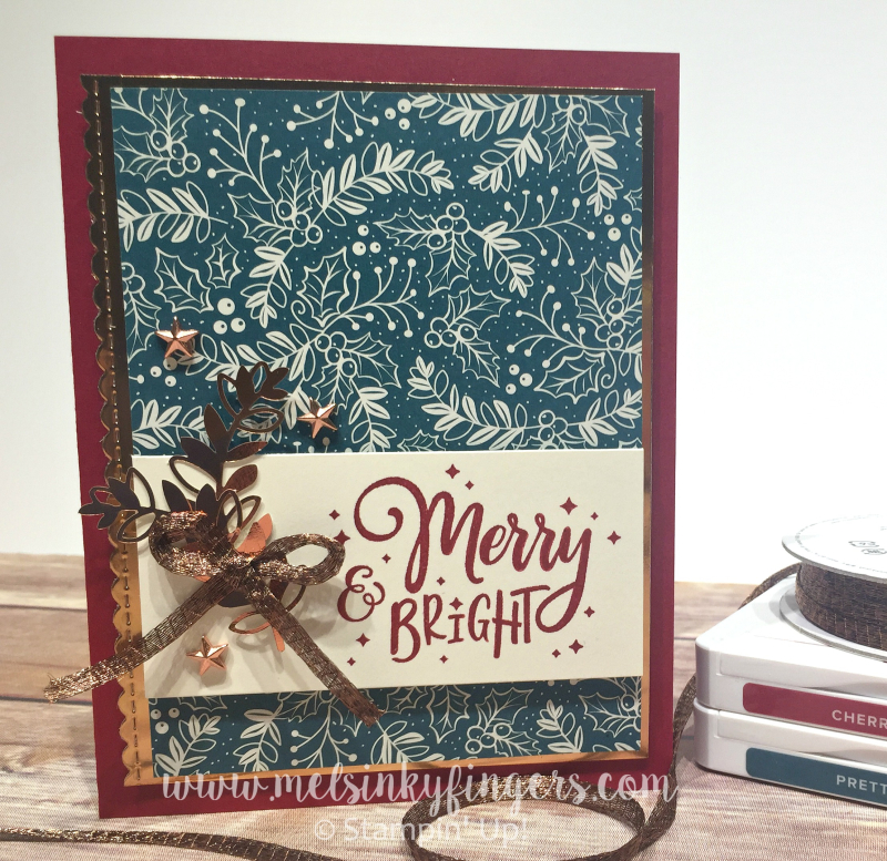 Color Fusers Blog Hop with Everything Festive and the Brightly Gleaming product suite.