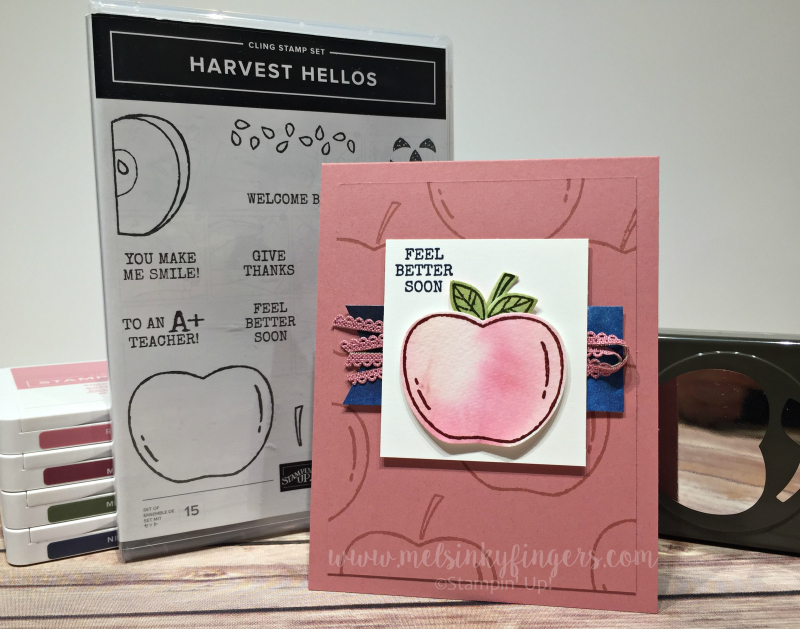 Harvest Hellos get better soon card for the September 2019 Color Fusers blog hop!