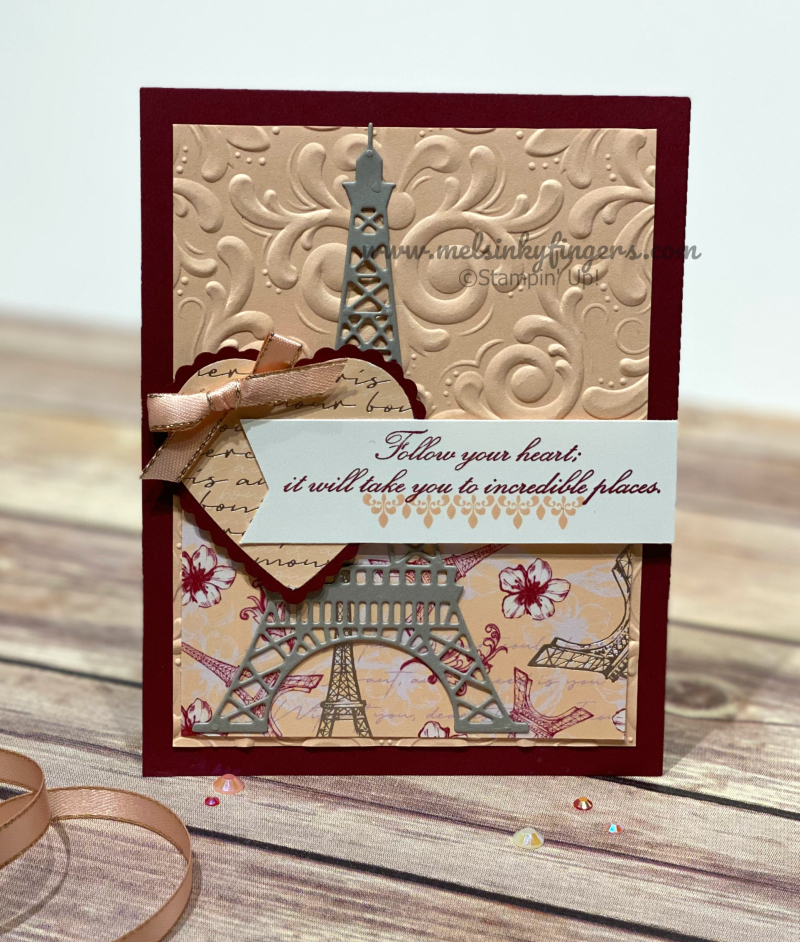 Parisian Blossom product suite all-occasions card.