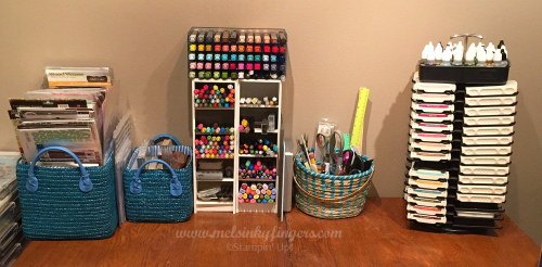 Before organizing with Storage by Stampin' Up!