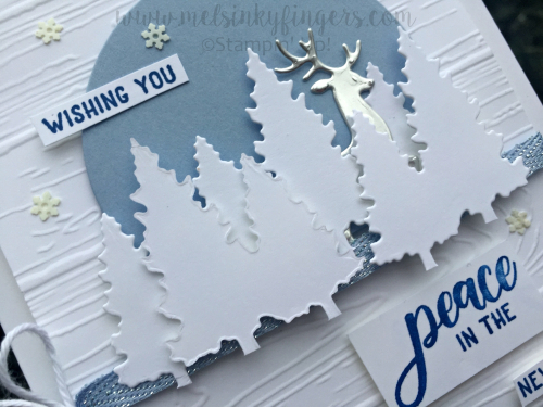 Layer dimensionals on your die cuts to create varying layers of depth and detail