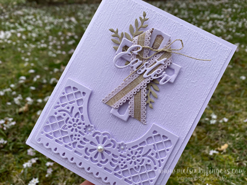 Combine die cut elements to create a meaningful card