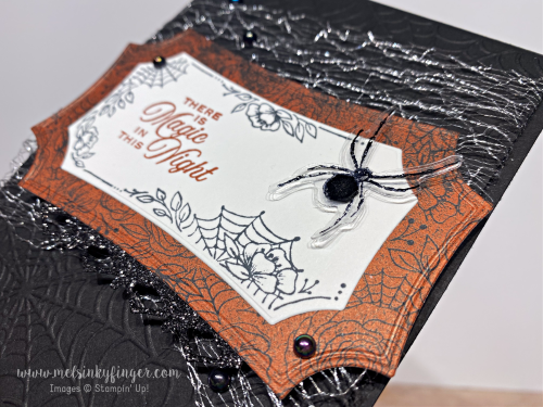 Hallows night magic bundle magic in this night designer paper metallic mesh ribbon august 2020 3D blog hop mels inky fingers stampin up