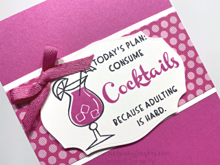 Nothing's Better Than 3D Tutorial Bundle Tasteful Labels Stampin' Up! Mel's Inky Fingers Magenta