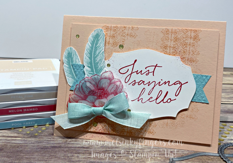 Color Fusers June 2020_Tasteful Touches stamps_Tasteful Labels_feather_flower_hello-2