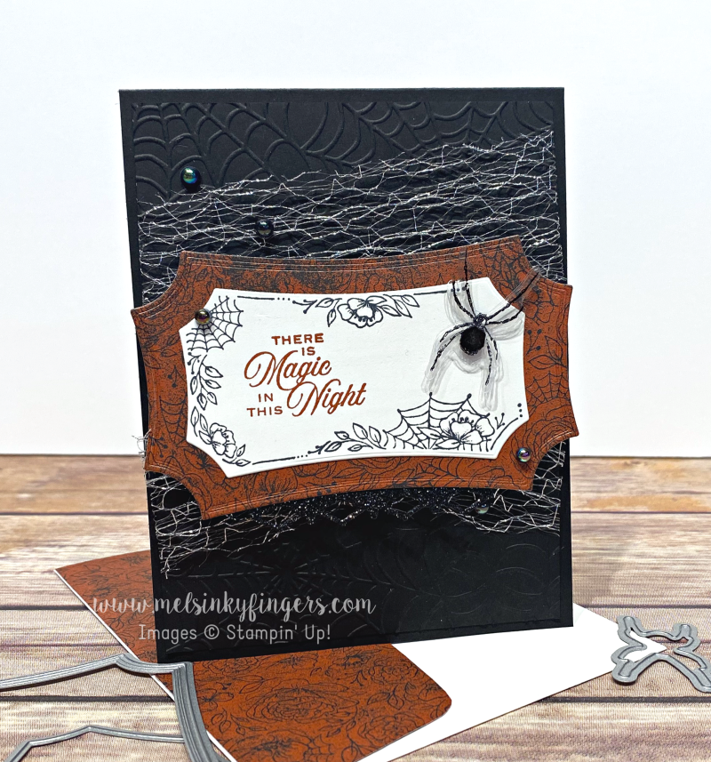 Hallows Night Magic Magic in This Night designer paper metallicmesh ribbon august 2020 3D Hop mels inky fingers stampin up